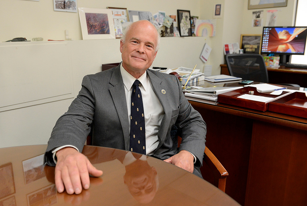 . Elliott Robinson, Monterey County Social Services director in his office in Salinas on Tuesday, August 7, 2018.  Robinson has announced he is retiring.  (Vern Fisher - Monterey Herald)