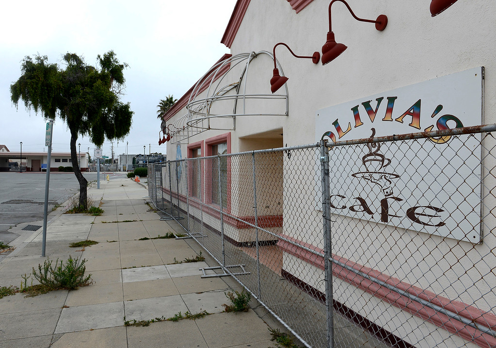 . The old Olivia\'s Cafe on Station Place at the Salinas train station in Salinas on Friday, August 3, 2018.  TAMC poised for groundbreaking on $81 million first phase of Salinas rail extension project aimed at upgrading train station and bringing rail service from Gilroy and Bay Area to Monterey County.  (Vern Fisher - Monterey Herald)