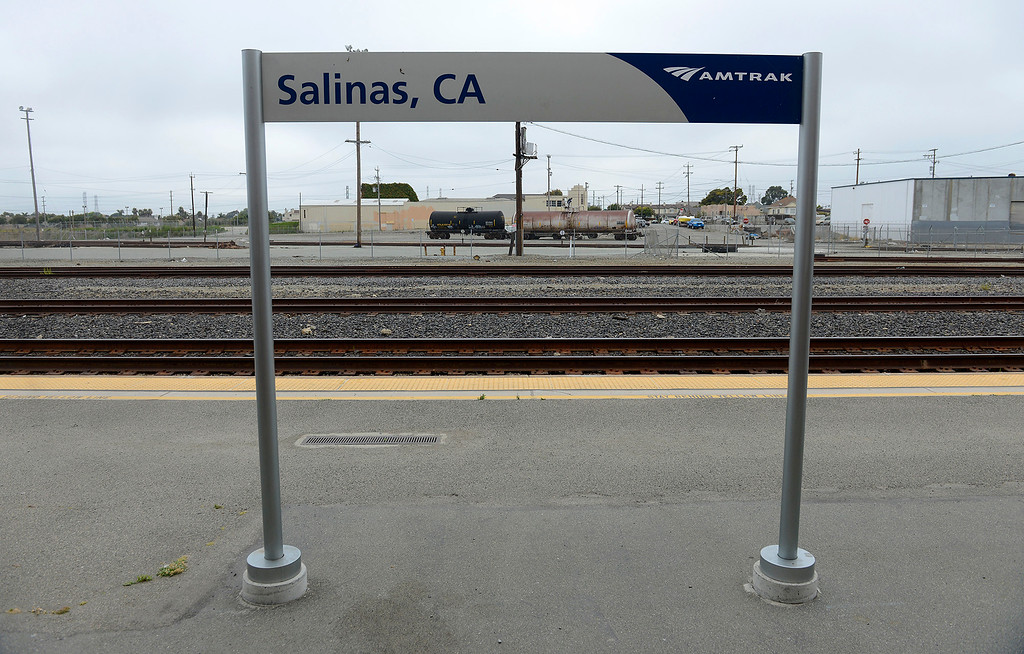 . The Salinas train station off Market Street in Salinas on Friday, August 3, 2018.  TAMC poised for groundbreaking on $81 million first phase of Salinas rail extension project aimed at upgrading train station and bringing rail service from Gilroy and Bay Area to Monterey County.  (Vern Fisher - Monterey Herald)
