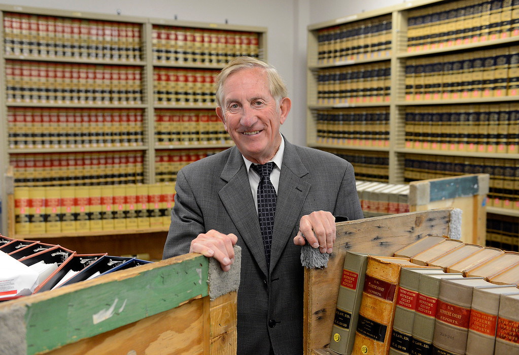 . Dean Flippo, Monterey County District Attorney in the new law library at the newly refurbished Monterey County Courthouse on Tuesday, August 7, 2018.  (Vern Fisher - Monterey Herald)