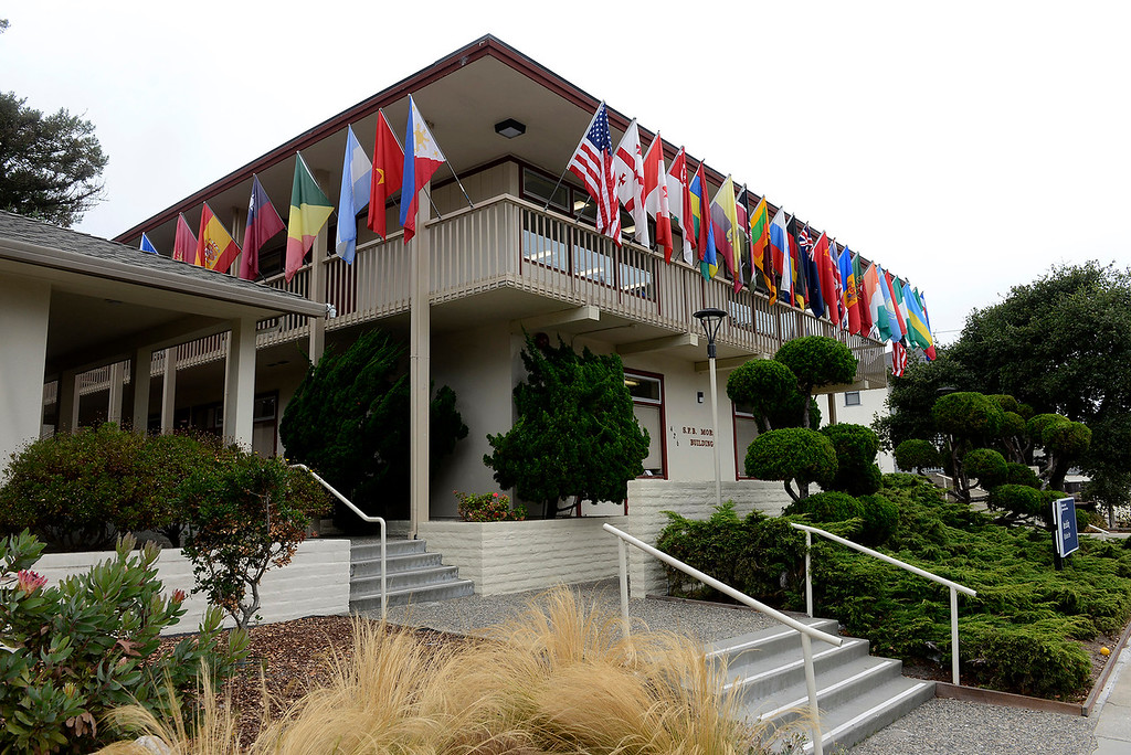 . The S.F.B. Morse Building at the Middlebury Institute of International Studies at Monterey on Tuesday, September. 4, 2018.  (Vern Fisher - Monterey Herald)