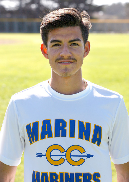 . Marina High School\'s distance runner Chris Plascencia at practice on Tuesday, September 11, 2018.  (Vern Fisher - Monterey Herald)