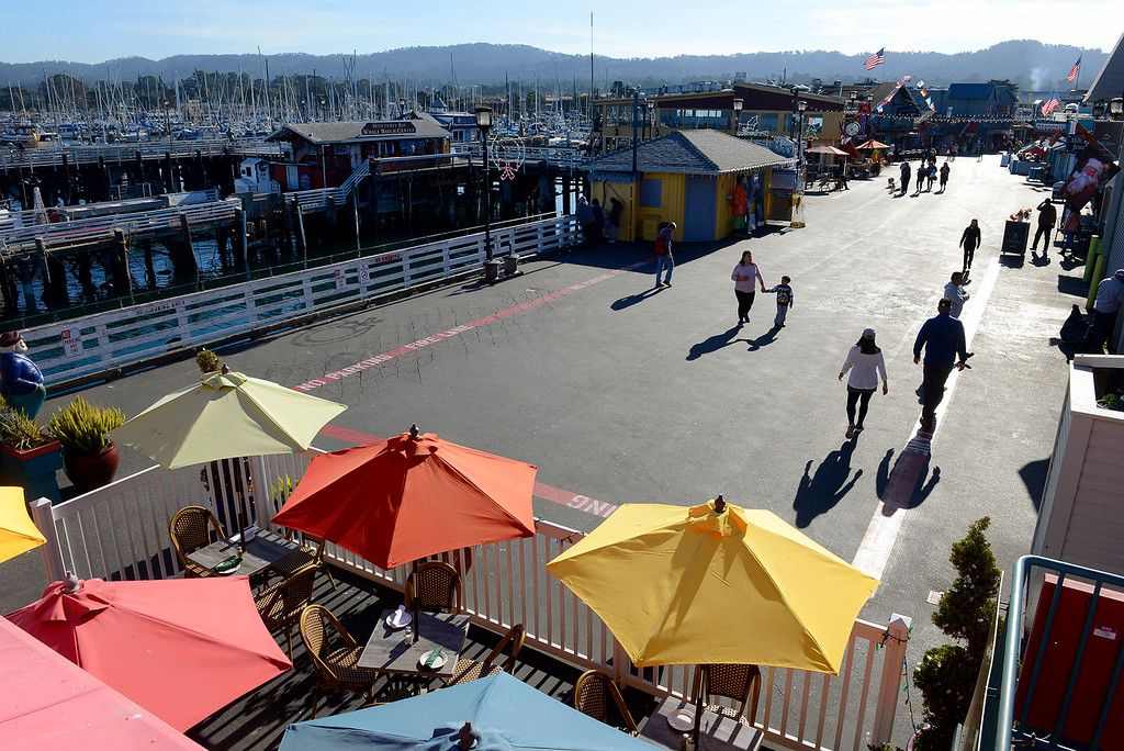 . Fisherman\'s Wharf in Monterey on Monday, Dec. 18, 2017.  (Vern Fisher - Monterey Herald)