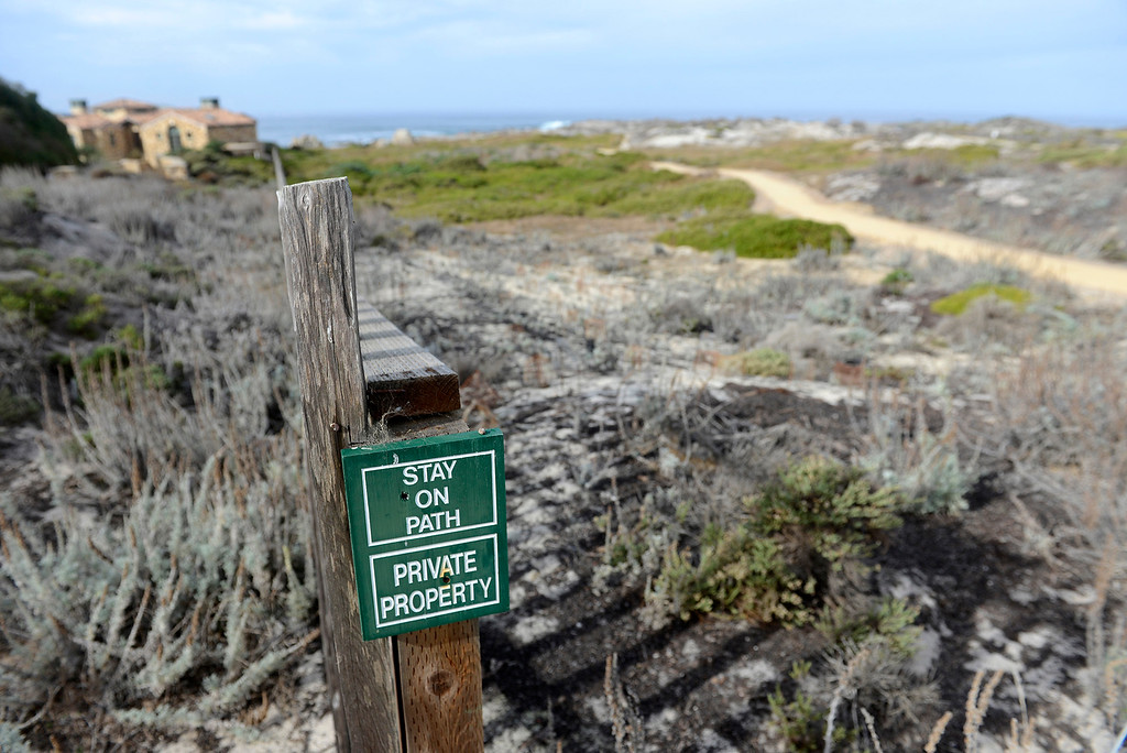 . The new section of the foot trail in Pacific Grove on Tuesday, Jan. 2, 2018 that is part of the Great Tidepool Project a 5-year plan by the City of Pacific Grove restoring the native Dune habitat.  (Vern Fisher - Monterey Herald)