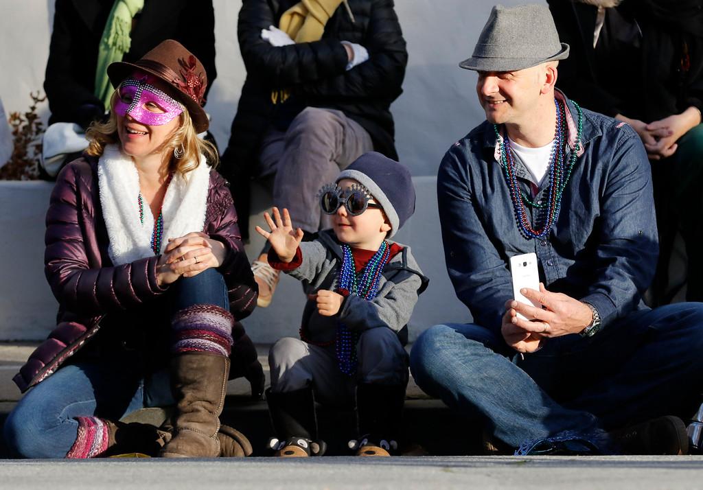 . Jordan Styker, 4, of Santa Cruz waves at other celebration attendees durning opening ceremonyFirst Night Monterey on Saturday, December 31, 2016 in Monterey, Calif. (Vernon McKnight/Herald Correspondent)