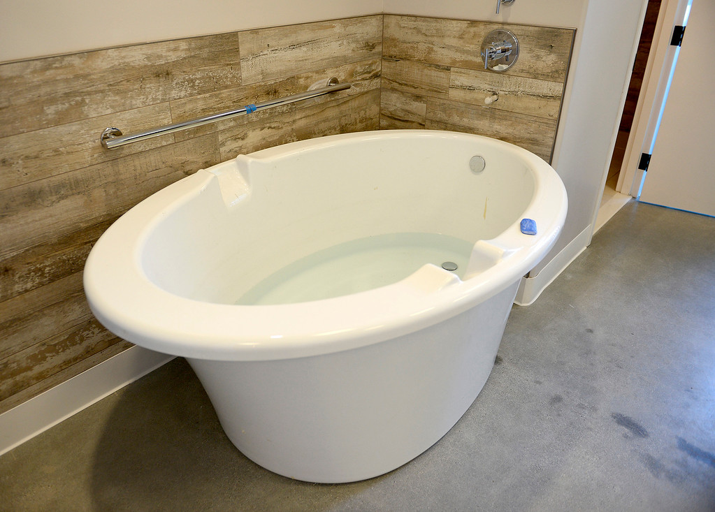 . One of the new birthing tubs at the new business Monterey Birth & Wellness Center in Ryan Ranch on Thursday, Dec. 14, 2017.  Monterey Birth & Wellness Center is Monterey County\'s first freestanding birthing center and will have a grand opening on Sunday.  (Vern Fisher - Monterey Herald)