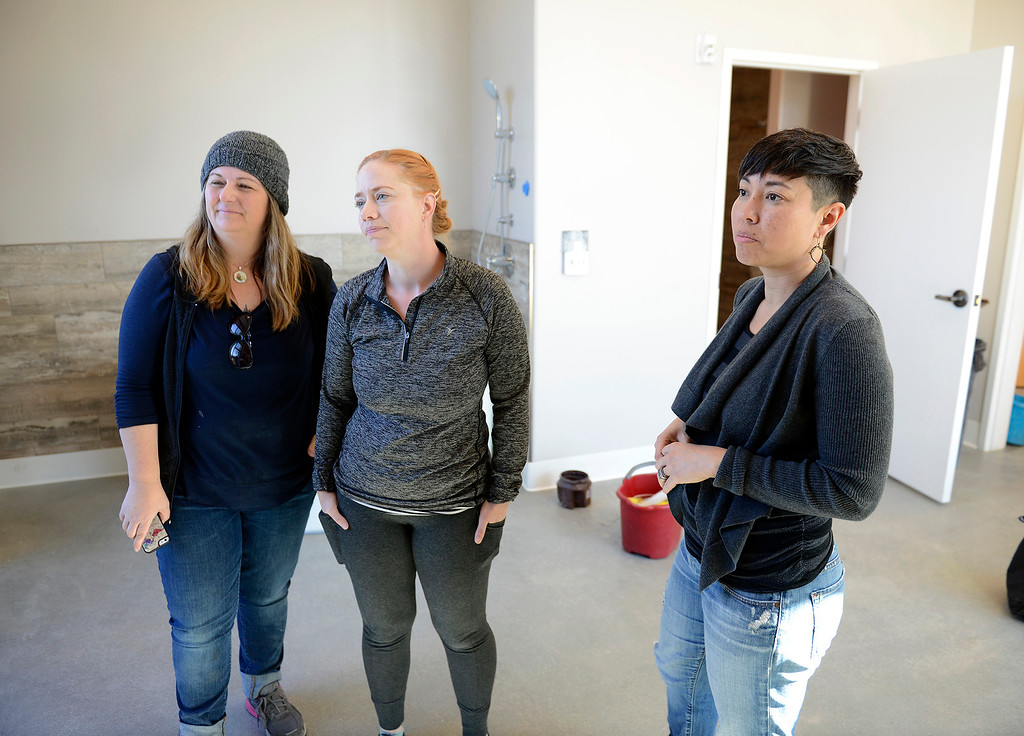 . Heather Schwarz, Jacqueline Little and Caroline Cusenza at their new business Monterey Birth & Wellness Center in Ryan Ranch on Thursday, Dec. 14, 2017.  Monterey Birth & Wellness Center is Monterey County\'s first freestanding birthing center and will have a grand opening on Sunday.  (Vern Fisher - Monterey Herald)