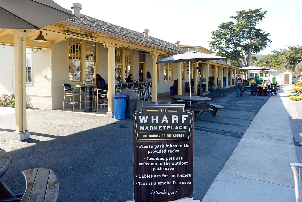 . The Wharf Marketplace in Monterey on Tuesday, Dec. 12, 2017.  (Vern Fisher - Monterey Herald)