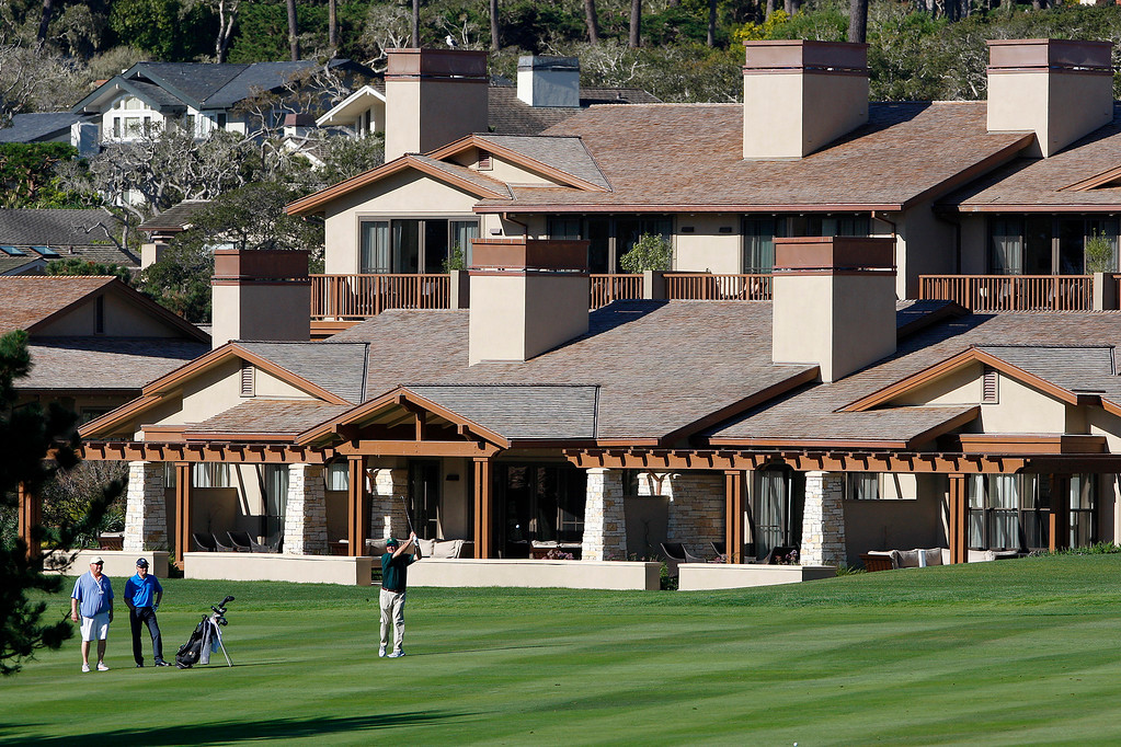 . The new Fairway One cottages on the first hole at the Pebble Beach Golf Links on Tuesday, Feb. 6, 2018.   (Vern Fisher - Monterey Herald)
