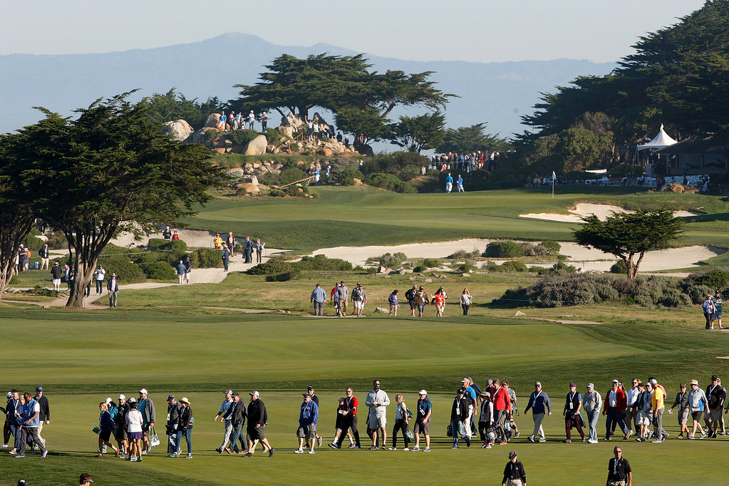 . Monterey Peninsula Country Club Shore Course during the second round of the AT&T Pebble Beach Pro-Am on Friday, Feb. 9, 2018.  (Vern Fisher - Monterey Herald)