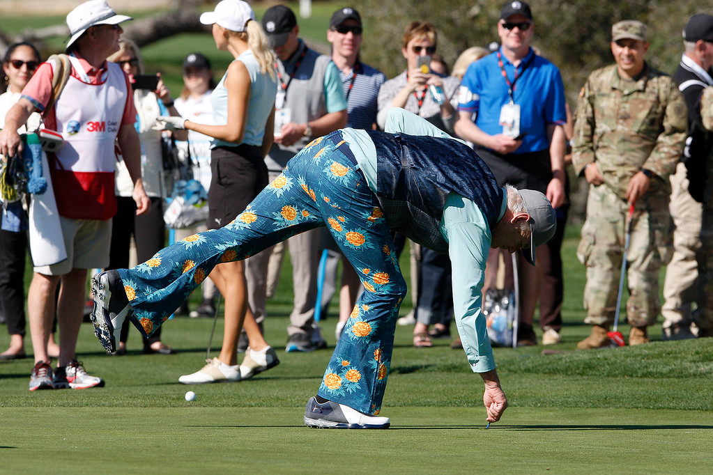 . Bill Murray during the 3M Celebrity Shoot-Out at the Pebble Beach Golf Links in Pebble Beach on Wednesday, Feb. 7, 2018.   (Vern Fisher - Monterey Herald)