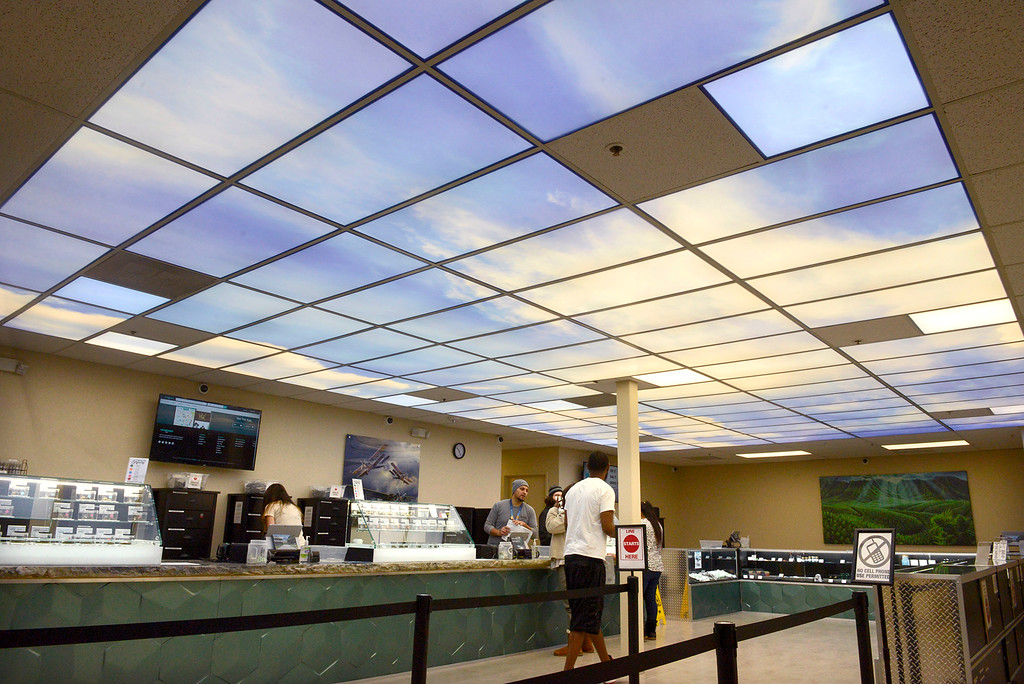 . Emerald Skyway dispensary in Salinas on Wednesday, Feb. 28, 2018.  It\'s the first marijuana dispensary to open in Salinas and has been open since mid January.  (Vern Fisher - Monterey Herald)