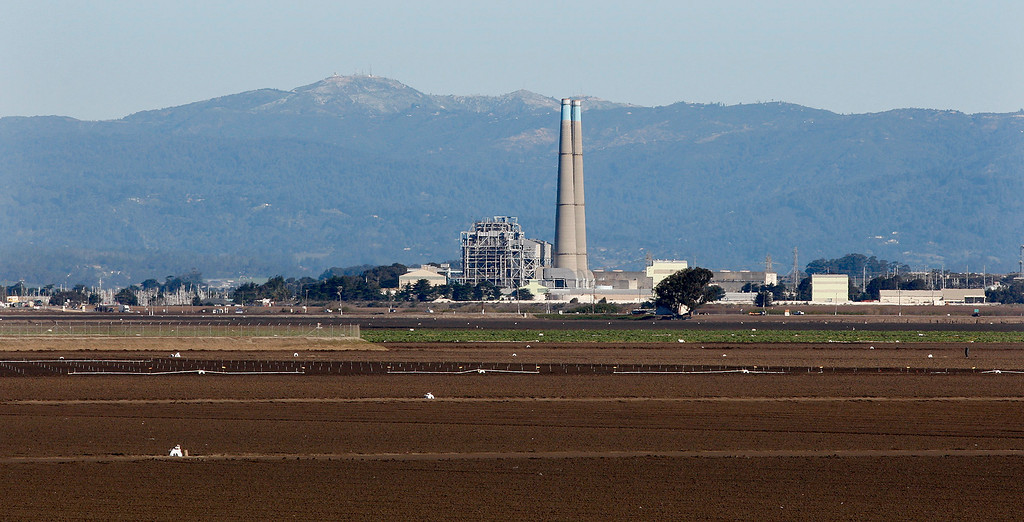 . The Moss Landing power plant on Tuesday, Feb. 27, 2018.  (Vern Fisher - Monterey Herald)