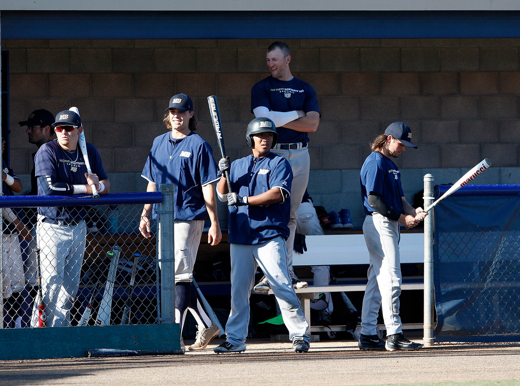 . CSU Monterey Bay baseball practice on Friday, Jan. 26, 2018.  (Vern Fisher - Monterey Herald)