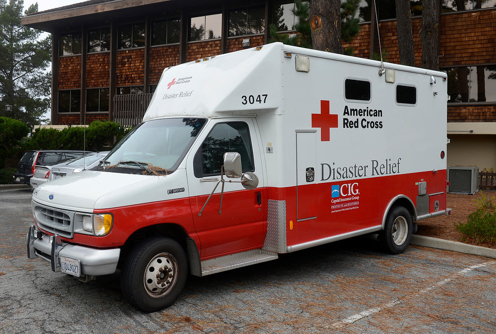 . The old Red Cross disaster response vehicle in Monterey on Wednesday, Jan. 10, 2018.  (Vern Fisher - Monterey Herald)