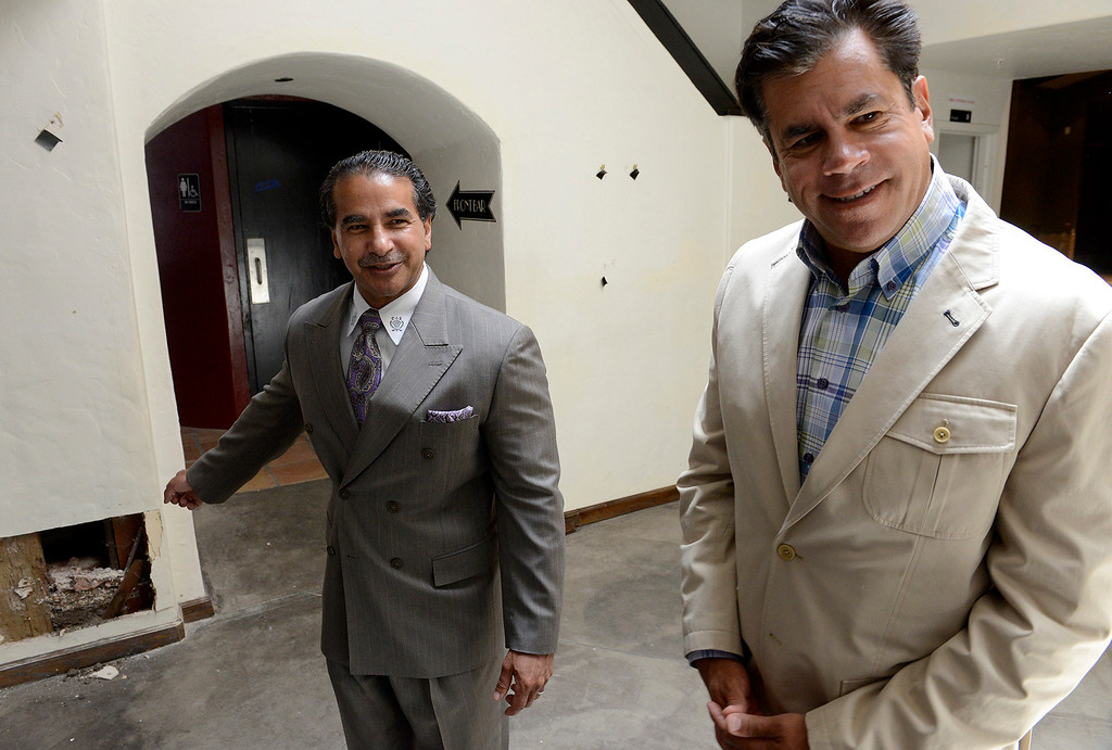 . Chris Shake and Sabu Shale Jr. inside their newly purchased building on 414 Alvarado Street in Monterey on Tuesday, July 18, 2017.  Chris and Sabu Jr. Shake bought their first downtown Monterey property - the historical Sanchez Adobe, which for years was The Attic on Alvarado Street. They plan to turn it into a restaurant or bakery.  (Vern Fisher - Monterey Herald)