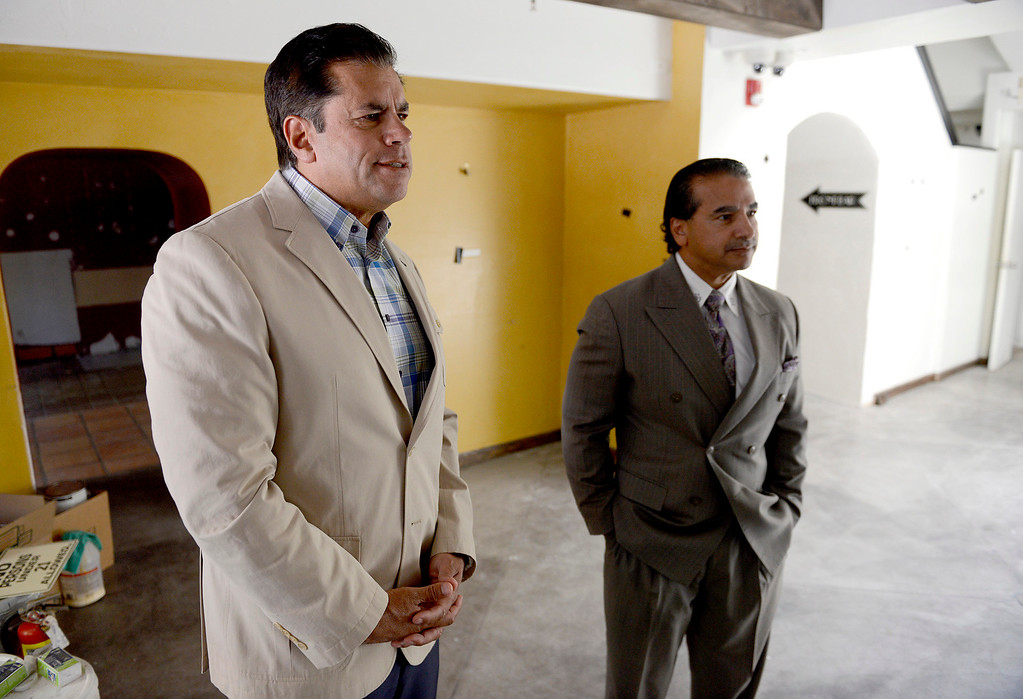. Sabu Shake Jr. with Chris Shake in their newly purchased building on 414 Alvarado Street in Monterey on Tuesday, July 18, 2017.  Chris and Sabu Jr. Shake bought their first downtown Monterey property - the historical Sanchez Adobe, which for years was The Attic on Alvarado Street. They plan to turn it into a restaurant or bakery.  (Vern Fisher - Monterey Herald)