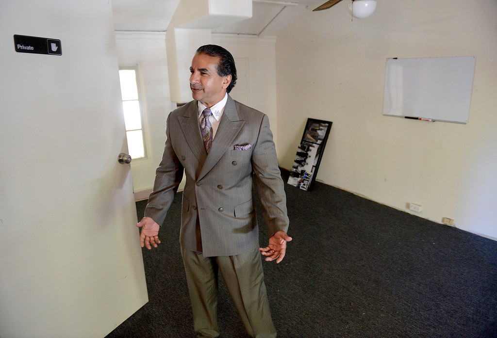 . Chris Shake inside his newly purchased building on 414 Alvarado Street in Monterey on Tuesday, July 18, 2017.  Chris and Sabu Jr. Shake bought their first downtown Monterey property - the historical Sanchez Adobe, which for years was The Attic on Alvarado Street. They plan to turn it into a restaurant or bakery.  (Vern Fisher - Monterey Herald)