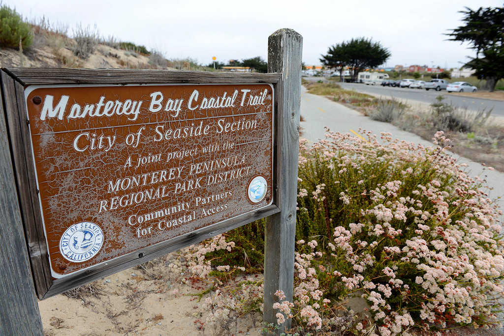 . Roberts Lake in Seaside on Thursday, July 20, 2017.  The city of Seaside and Sustainable Seaside worked together to receive the Building Better Communities grant for a nature-based play area at Roberts Lake.  (Vern Fisher - Monterey Herald)