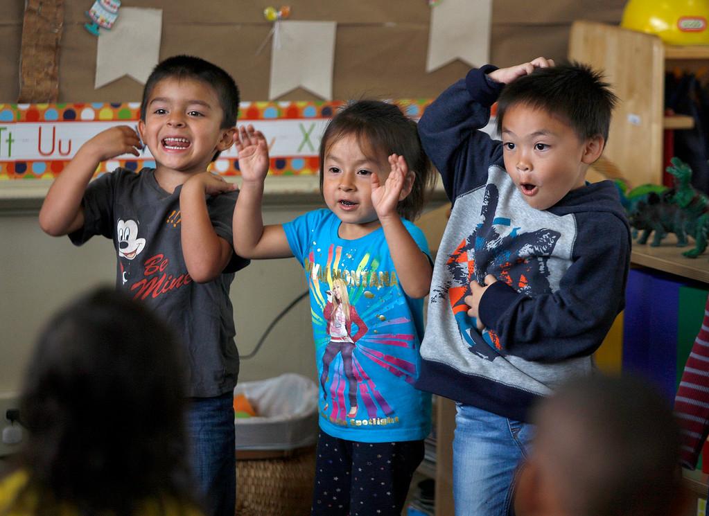 . Pre-kindergarten students at the Marina Child Development Center in Marina on Monday, July 24, 2017.   (Vern Fisher - Monterey Herald)