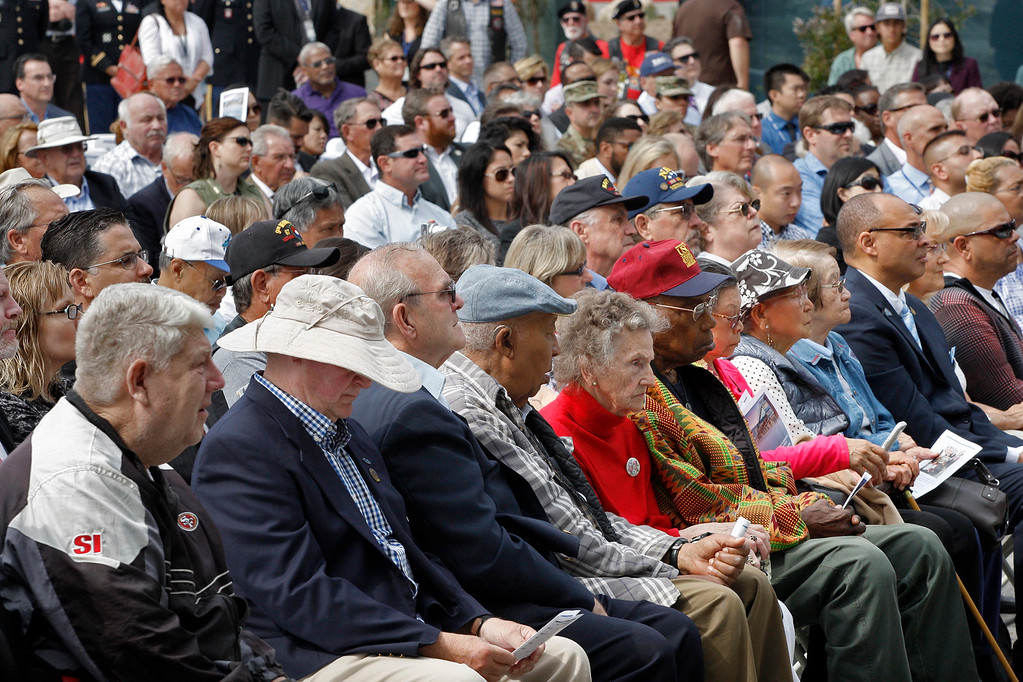 . Hundreds attend the grand opening ceremony at the Major General William H. Gourley VA-DOD Outpatient Clinic in Marina on Thursday, Aug. 3, 2017.  (Vern Fisher - Monterey Herald)