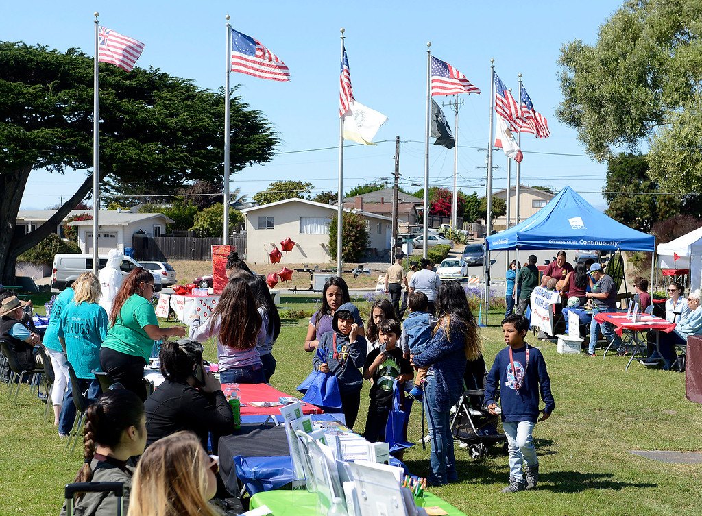 . Seaside participates in the National Night Out campaign on Tuesday, Aug. 1, 2017.  (Vern Fisher - Monterey Herald)