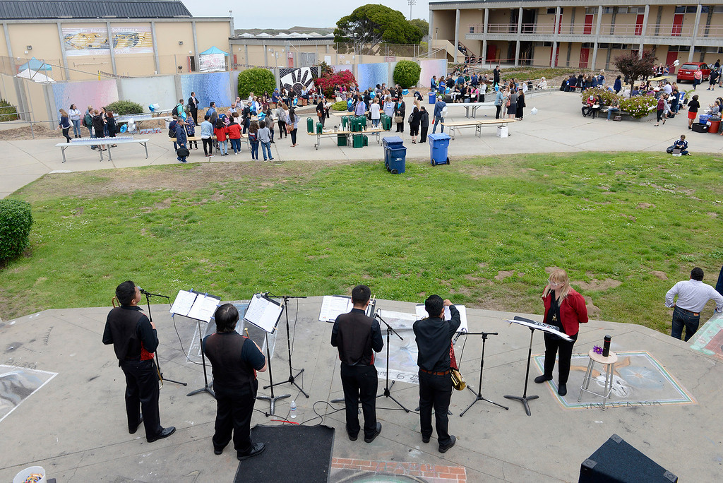 . About 1,000 employees (mostly teachers) of MPUSD get together for a back to school day at Seaside High on Monday, July 31, 2017.   (Vern Fisher - Monterey Herald)