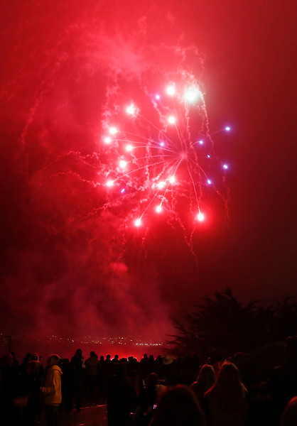 Fireworks in Pacific Grove