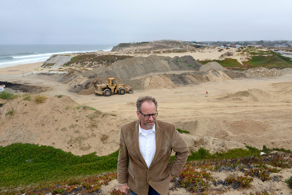 . Sand City city administrator Todd Bodem on Tioga Ave. in Sand City near the proposed Collections Resorts resort site on Friday, July 28, 2017.  The developer and coastal commission have been working on a viable and acceptable plan for the 26-acre site and may have something to present by next year.  (Vern Fisher - Monterey Herald)