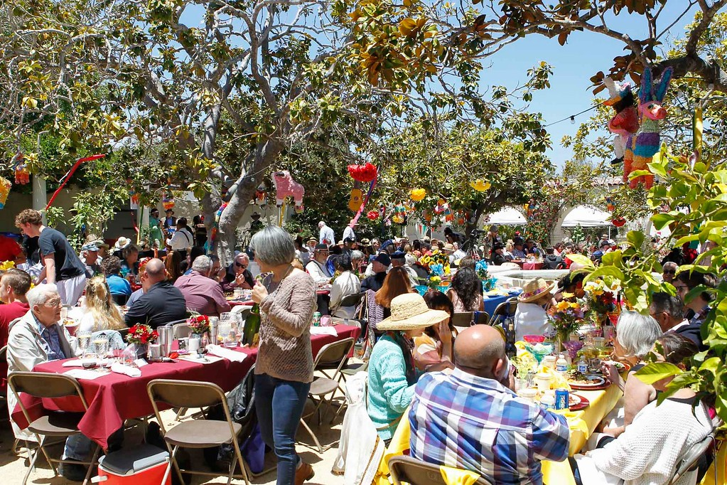 . Attendees are seated during 2017 La Merienda and the celebration of Montery\'s 247th birthday in the Memory Garden at the Custom House Plaza Saturday, June 3, 2017 in Monterey, Calif. (Vernon McKnight/Herald Correspondent)