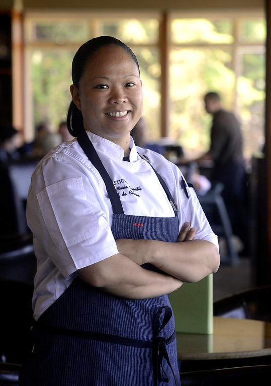. Chef Anna Marie Bayonito at Sticks Restaurant at The Inn at Spanish Bay in Pebble Beach on Monday June 5, 2017.  (David Royal - Monterey Herald)
