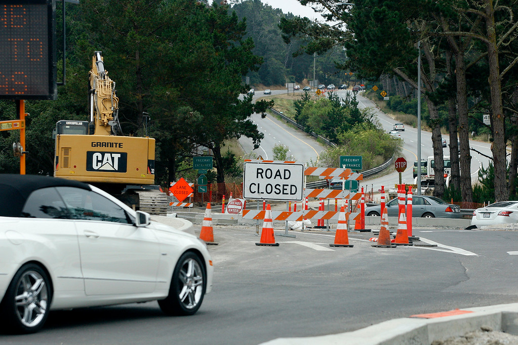 . The Holman Highway roundabout on Wednesday, June 28, 2017.  (Vern Fisher - Monterey Herald)