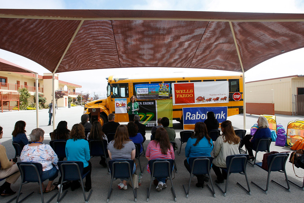 . Castroville Elementary School on Friday, June 23, 2017 during the Stuff the Bus campaign to give school supplies for needy students.  (Vern Fisher - Monterey Herald)