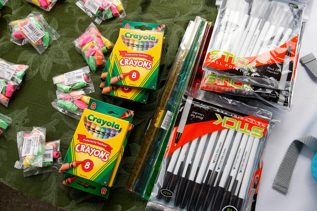 . New school supplies at Castroville Elementary School on Friday, June 23, 2017 during the Stuff the Bus campaign to give school supplies for needy students.  (Vern Fisher - Monterey Herald)