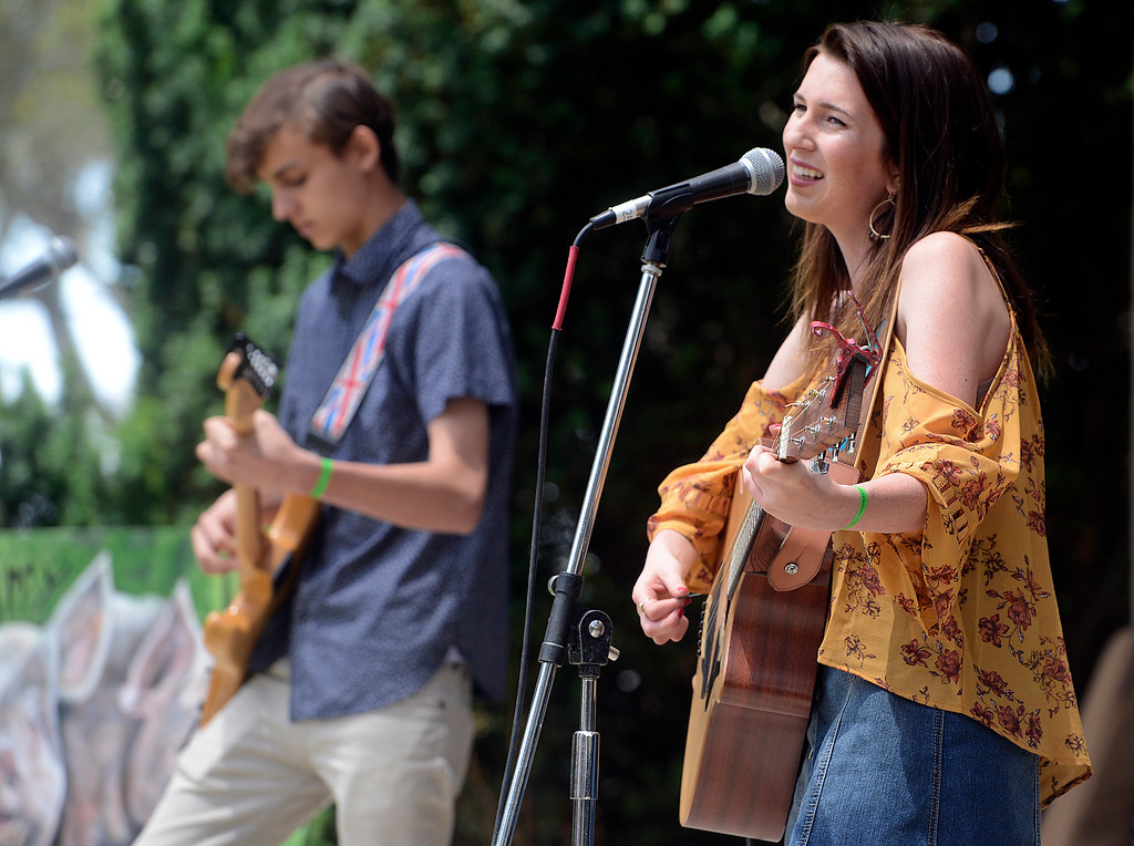 . Delaney Ann sings with her band during the Monterey BaconFest at the Monterey County Fair and Events Center on Saturday June 24, 2017. (David Royal - Monterey Herald)