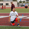 David Fales watches campers throw footballs during the Ron Johnson-Anthony Toney Football Camp at Monterey Peninsula College on Wednesday, June 29, 2016 in Monterey, Calif. (Photo by Vernon McKnight)