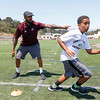 Maurice Mann during the Ron Johnson-Anthony Toney Football Camp