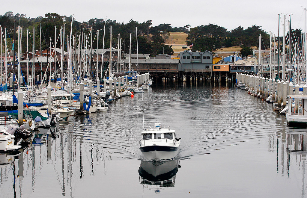 . A calm day in the Monterey Harbor on Thursday, July 5, 2018.  (Vern Fisher - Monterey Herald)