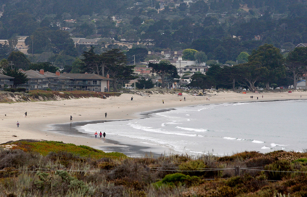 . Calm conditions at Del Monte State Beach in Monterey on Thursday, July 5, 2018.  (Vern Fisher - Monterey Herald)