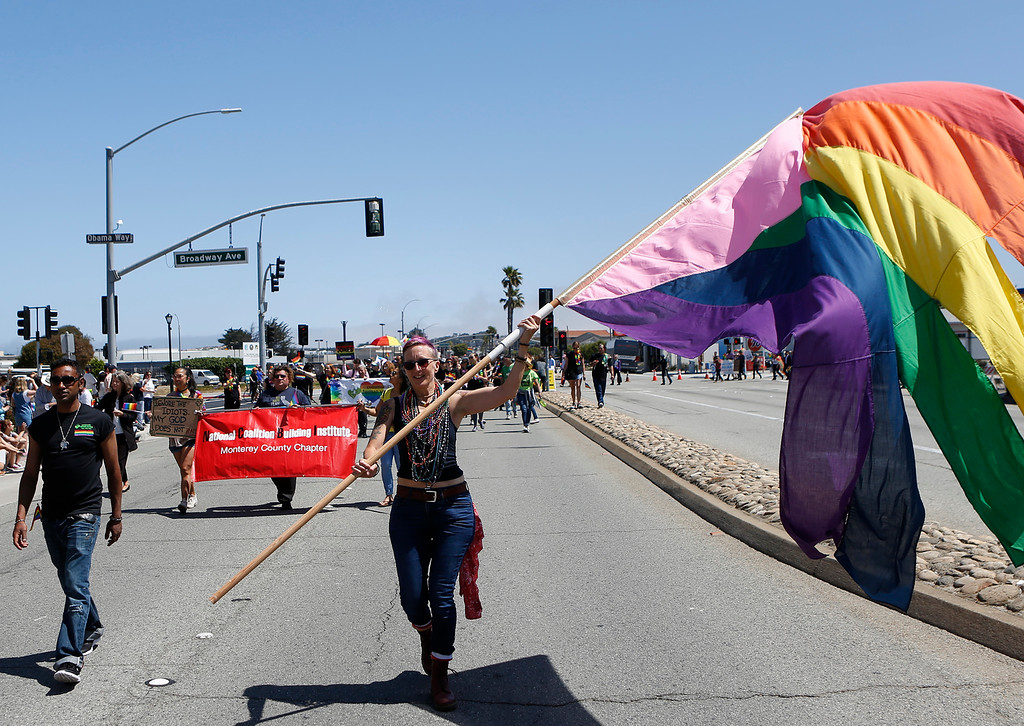 . During the Monterey Peninsula Pride Parade in Seaside on Saturday June 30, 2018. (David Royal/ Herald Correspondent)