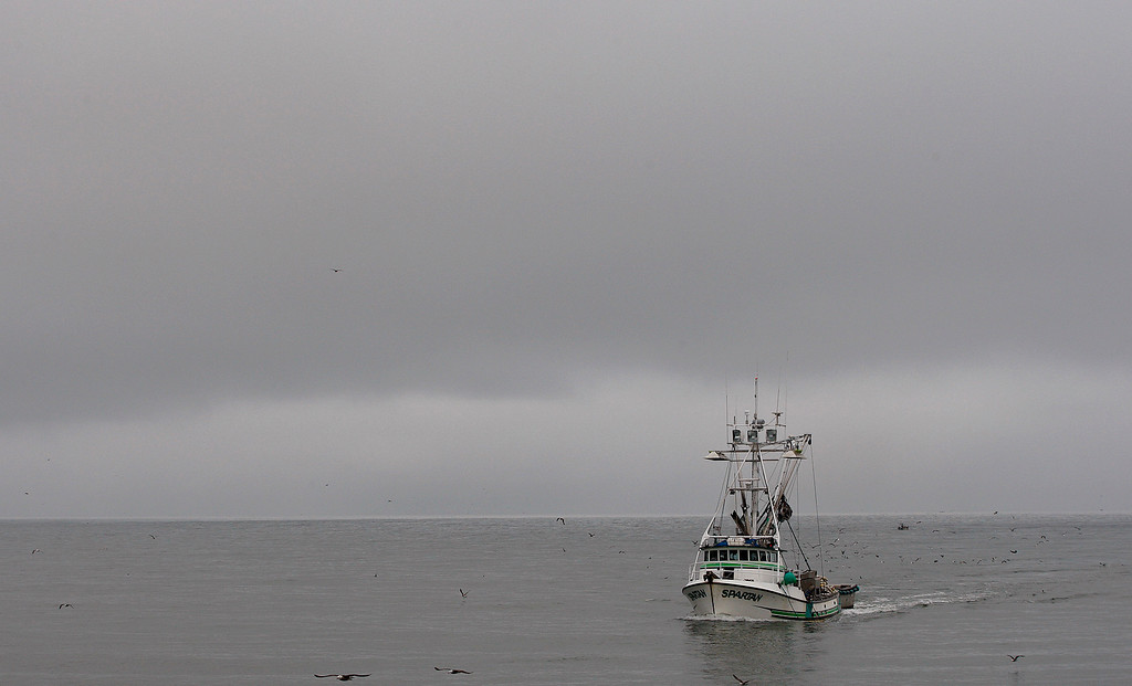 . The commercial fishing boat Spartan enters the Moss Landing Harbor on Monday, July 2, 2018.  (Vern Fisher - Monterey Herald)