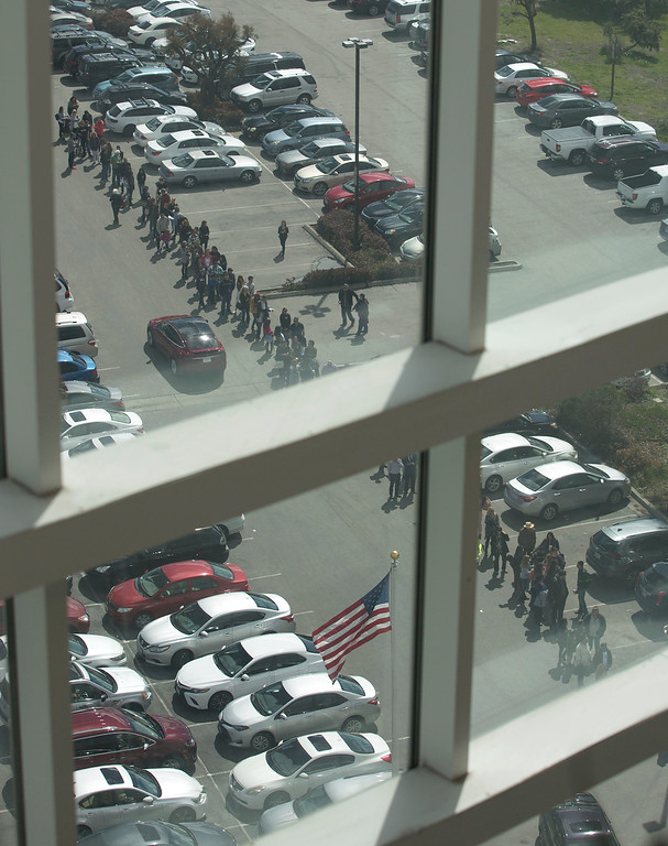 . The line in the parking lot goes around the building and out into the parking lot during open casting for HBO\'s Big Little Lies at Embassy Suites in Seaside on Saturday March 17, 2018. (David Royal/ Herald Correspondent)