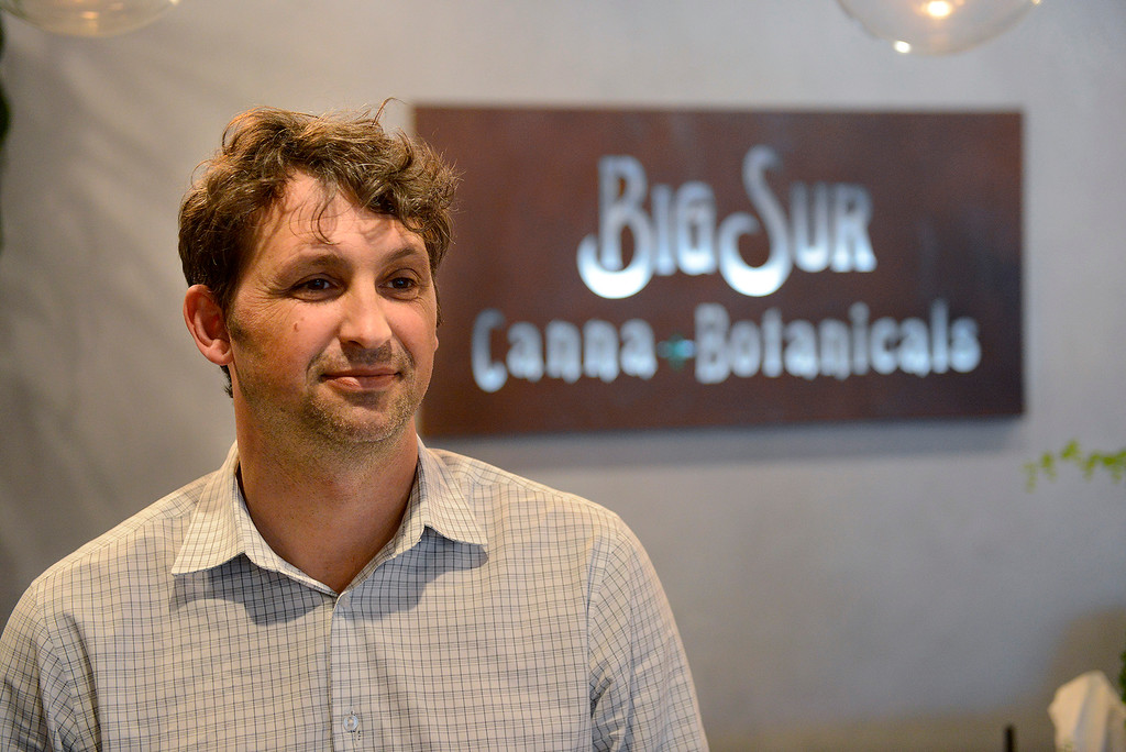 . Aram Stoney of Big Sur Canna Botanicals in Carmel on Wednesday, March 21, 2018.  (Vern Fisher - Monterey Herald)
