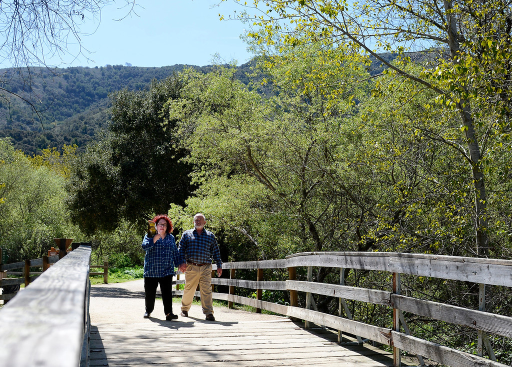 . People hiking in Garland Park in Carmel Valley Ranch on Tuesday, March 27, 2018.  (Vern Fisher - Monterey Herald)