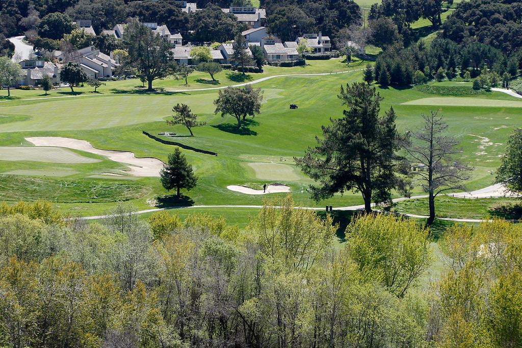 . Golfing in the sunshine at Carmel Valley Ranch on Tuesday, March 27, 2018.  (Vern Fisher - Monterey Herald)