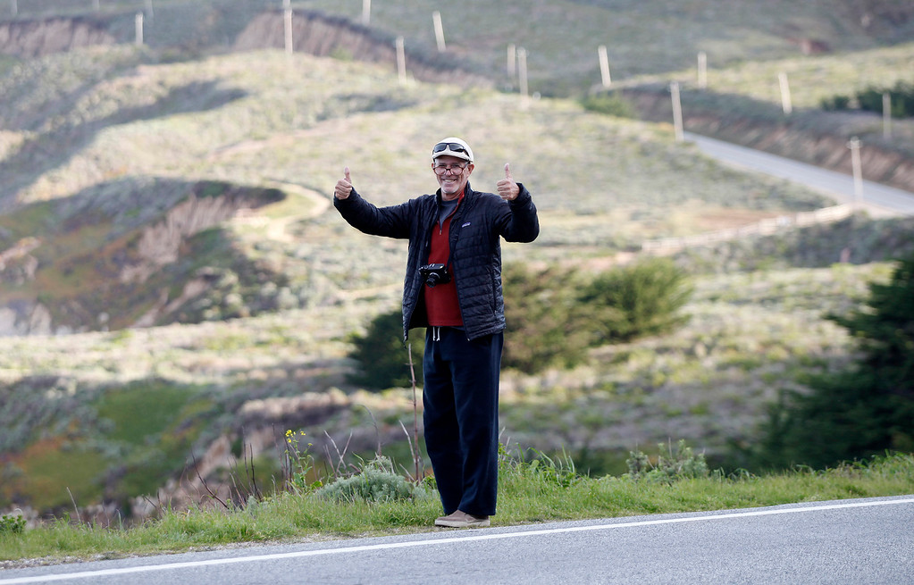 . Photographer Bob Galbraith in Big Sur on Friday, March 3, 2017.  (Vern Fisher - Monterey Herald)
