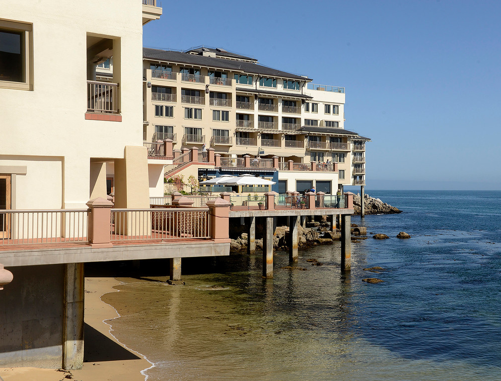 . The Monterey Plaza Hotel and Spa on Tuesday, April 3, 2018.  The iconic Monterey hotel recently went through major renovations.  (Vern Fisher - Monterey Herald)