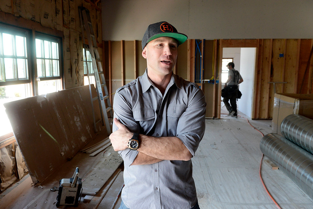 . Sal Palma in his new under construction cannabis dispensary location in Seaside on Friday, March 30, 2018.  Palma is owner/operator of Higher Level of Care cannabis dispensary in Castroville he is currently getting ready to setup shop in Seaside.  (Vern Fisher - Monterey Herald)