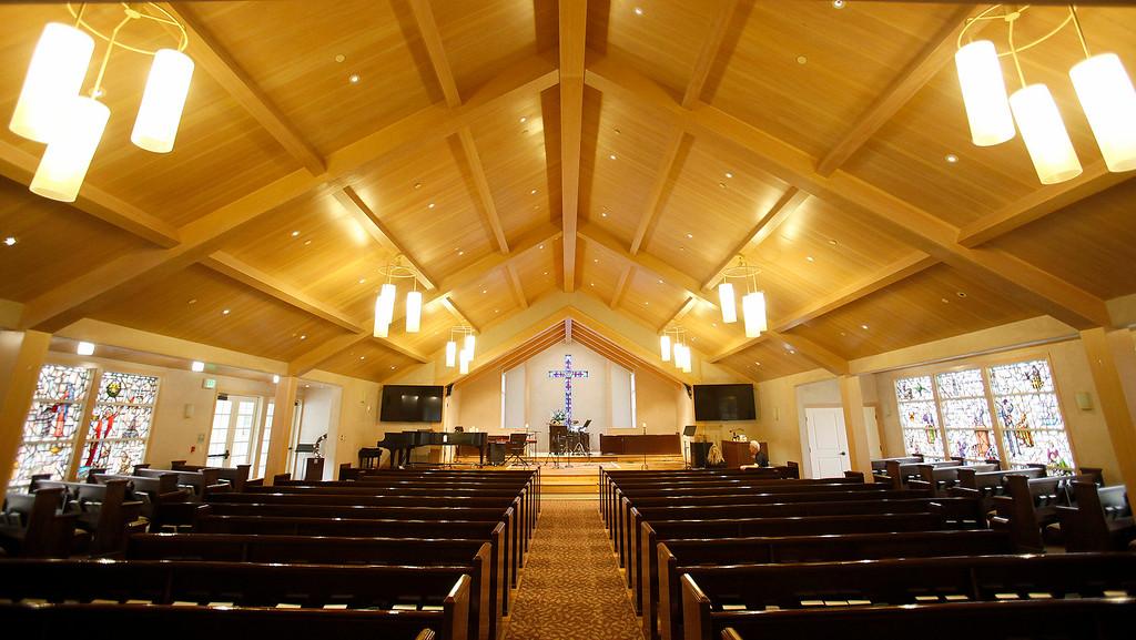 . A new organ at Carmel Presbyterian Church on Thursday, April 6, 2017.  (Vern Fisher - Monterey Herald)