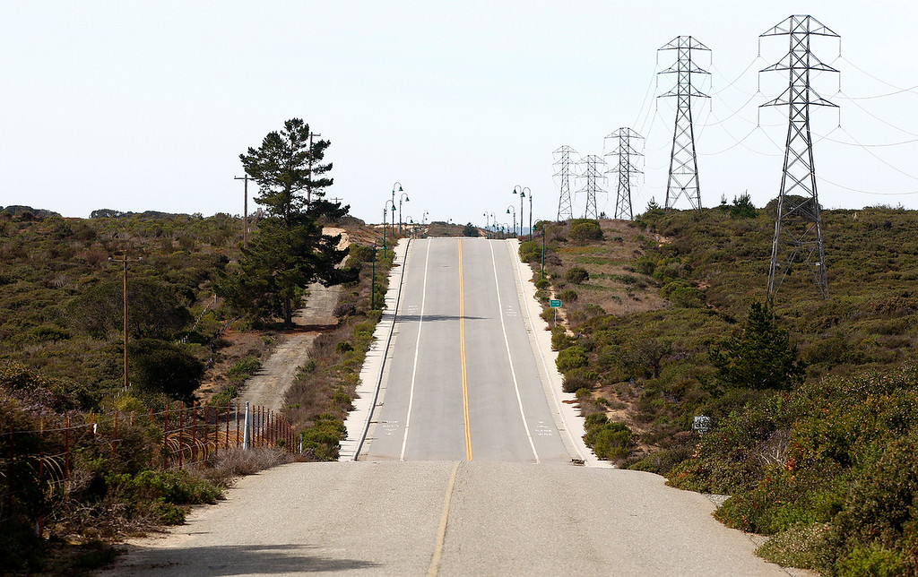 . Looking West at the proposed Eastside Parkway at Parker Flats Cutoff Road on Fort Ord on Friday, March 9, 2018.  (Vern Fisher - Monterey Herald)